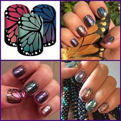 Butterfly Bliss #manicure #jamicure #butterfly #bliss #nails #nailswag #jamberry #jamberrynails #jamwithkirky