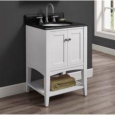 "Fairmont Designs Shaker Americana 24"" Vanity - Open Shelf - Polar White"
