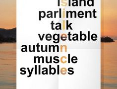 Poster+Design Syllable, Poster, Design, Design Comics, Posters, Warehouse