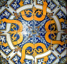 PRINTS & PATTERNS: The Portuguese azulejos (tiles) are beautiful pieces of art.
