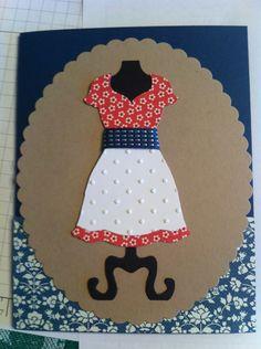 Dress frame notecard