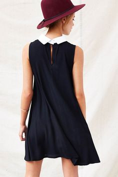 One  Only X Urban Renewal Collared Swing Dress