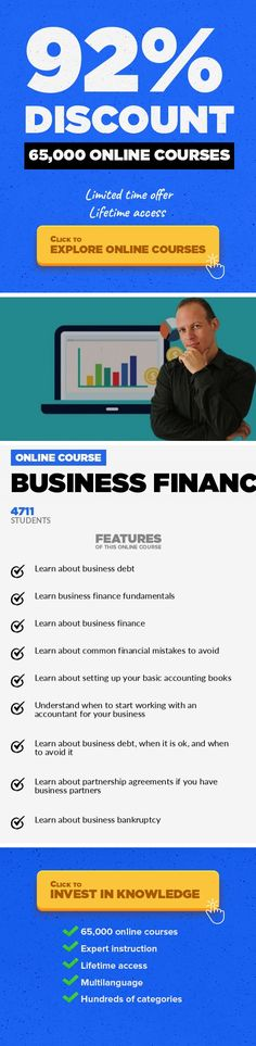 Business finances Finance, Business #onlinecourses #onlinebusinessproducts #learningcalligraphyLearn about loans, debt, credit, bankruptcy & light basic accounting from a finance attorney with 20 years of experience LATEST: Course Update Coming At The End Of November To Include More Lectures. * OVER 3,200 DELIGHTED STUDENTS HAVE TAKEN THIS COURSE This course is based on a long interview with a b...