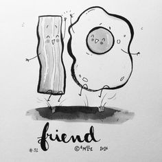 Friend - by Camille Medina #inktober #inktober2016