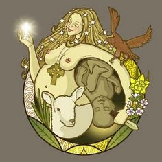 Spring Equinox:  The Goddess Ostara and Spring lambs, for the #Spring #Equinox.