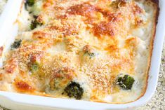 Gratin de riz au poulet et brocoli Lasagna, Pasta, Breakfast, Ethnic Recipes, Food, Organiser, Drink, Chinese Cabbage, Cheese