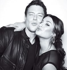 Cory Monteith and Lea Michele. RIP Corey Monteith