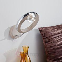 Lampa ścienna SANTO, chrom/kwarc 8015768