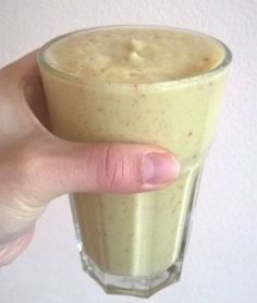 smoothie Glass Of Milk, Smoothies, Juice, Food And Drink, Health Fitness, Pudding, Weight Loss, Drinks, Cooking