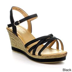 e5600db57 BellaMarie Women s Ankle Strappy Platform Wedge. overstock.com