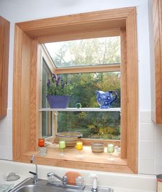 Representation of Garden Windows for Kitchen, Refreshing Part in the Kitchen Area