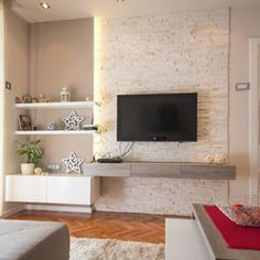 living room select focal wall and build out wall niches cover back with stone tile find. Black Bedroom Furniture Sets. Home Design Ideas