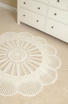Emily Mega Doily Rug is Here..by Henna of ...Handy Crafter