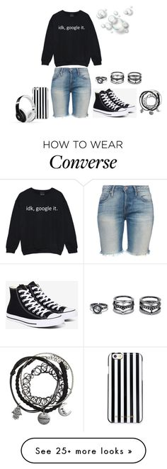 """Idk"" by freida-adams on Polyvore featuring NSF, Converse, MICHAEL Michael Kors, Beats by Dr. Dre and Lulu*s"
