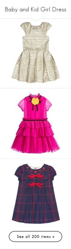 """Baby and Kid Girl Dress"" by alejaborrayo ❤ liked on Polyvore featuring children, baby, cotton, girls 0-36m, dresses, clothing 4-12 yrs, girls, pink, ready to wear and sale"