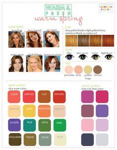 Warm spring palette