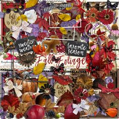 Fall Foliage Elements from Raspberry Road Designs.