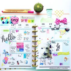 villabeautifful_creates: A look inside my @meandmybigideas @the_happy_planner layout for the week using @pink_paperplane and #studiol2e stamps.