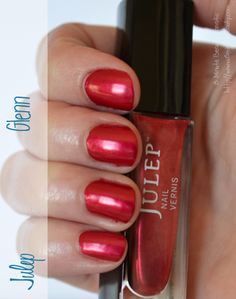 Julep Glenn, a super pretty red nail polish  #NailPolish Swatch ~15MinuteBeauty.com