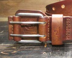 Купить Ремень из натуральной кожи - коричневый, ремень, ремень из кожи, ремень ручной работы