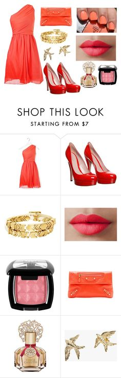"""Slughorn's Christmas Party (Sandra)"" by alexandriagoh ❤ liked on Polyvore featuring Carven, Gucci, House of Harlow 1960, LORAC, NYX, Balenciaga, Vince Camuto and Zoe & Morgan"