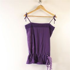 Fat Face Womens Top Size M Purple Embroidered Cotton Sleeveless | eBay