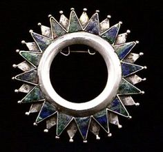 Brooch | William Spratling.  Sterling silver and azur malachite.  ca. 1931 - 46.