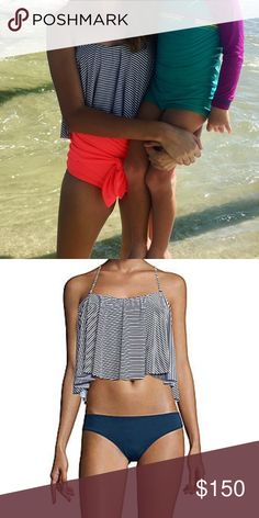 •MAKE OFFERS• Navy/White Swing Top! This is a super cute navy/white swing top! It comes with a detachable tie around the neck. It's a little different style than Kortni Jeane but still adorable! :) only worn once!! *LOOKING TO TRADE* Swim