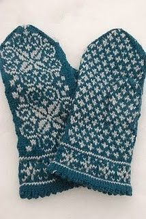 Lovely Swedish knit mittens, by the talented Pysselfarmor