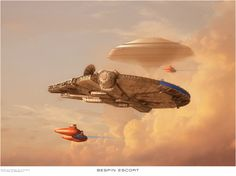 Had a request from a Star Wars mad 7 year old relative for a Millenium Falcon picture Millenium Falcon by A Rivard Twin pod by Sebastian Cloud City by U. Nave Star Wars, Star Wars Rpg, Star Wars Ships, Star Trek, Star Wars Concept Art, Star Wars Fan Art, Millenium Falcon, Cloud City, The Force Is Strong