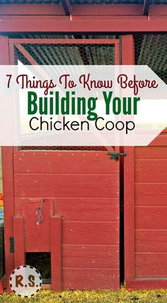 What chicken coop design are you going to use for your coop? You need to know wh… What chicken coop design are you going to use for your coop? You need to know what is needed in the coop…then with a few guidelines you can get started. Chicken Coop Designs, Chicken Coop Kit, Chicken Barn, Portable Chicken Coop, Chicken Coup, Best Chicken Coop, Backyard Chicken Coops, Building A Chicken Coop, Chicken Runs