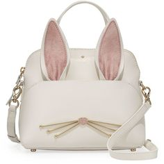 Kate Spade New York make magic maise small bunny satchel bag ($348) ❤ liked on Polyvore featuring bags, handbags, multi pattern, leather satchel handbags, white purse, leather handbags, kate spade purses and kate spade satchel