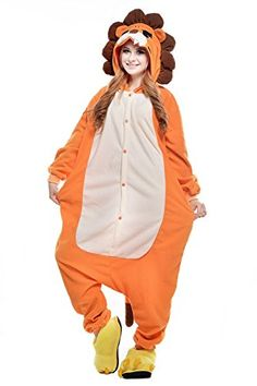 Unisex Costume Hoodies Adult Jumpsuits Anime Pyjamas Halloween Lion Onesie ( XL 8e8cf9f23ea3
