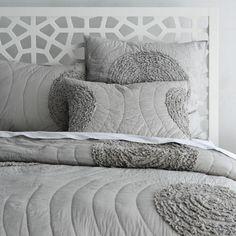 bett kopfteil design ideen grau und weiß