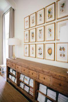 Vintage strorage cabinet, collection of botanicals | Jean Liu Design