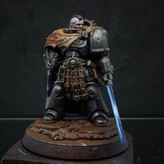 Second of three test models to begin my new project. Warhammer Deathwatch, Warhammer Art, Warhammer Models, Warhammer 40k Miniatures, Warhammer 40000, Happy Easter Everyone, Miniature Figurines, Fantasy Miniatures, Marine Colors