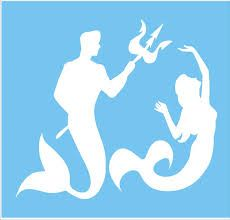 Image result for mermaid  stencil
