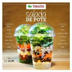 Salad Packaging, Food Packaging, Disposable Food Containers, Sandwich Menu, Salads To Go, Lean Meals, Salad In A Jar, Greens Recipe, Food Plating