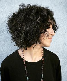 Black+Curly+Bob+With+Gray+Highlights