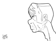 #drawing #illustration #oldman# animeart #monochrome