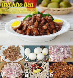 Thực đơn toàn những món đưa cơm mà siêu chất lượng thôi! Cooking Chef, Asian Cooking, Cooking Recipes, Viet Food, Good Food, Yummy Food, Daily Meals, Saveur, Food Menu