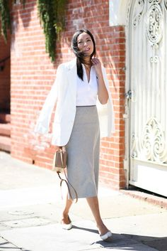 Office Wear Women Work Outfits Flats - Office Wear Women Work Outfits F. Office Wear Women Work Outfits, Fall Outfits For Work, Office Outfits, Outfit Work, Outfit Ideas, Office Attire, Summer Outfits, Stylish Outfits, Office Fashion