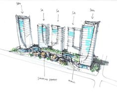 mixed use concept  ~ Great pin! For Oahu architectural design visit http://ownerbuiltdesign.com