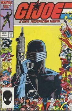 gi joe cover marvel number one | GI Joe (1982 Marvel) 2nd Printing comic books