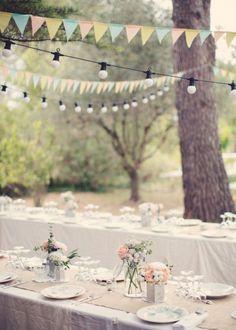 Guirlandes et fanions pour l'esprit champêtre barefootstyling.com
