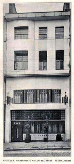 Façade of Willow Tea Rooms from the journal 'Dekorative Kunst', 1905