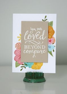 Hampton Art Blog: You are Loved Card by Jaclyn Rench