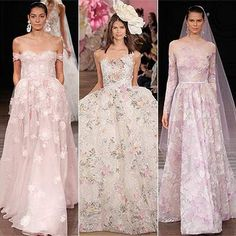 Wedding dresses 2017: Pastel and coloured bridal gowns