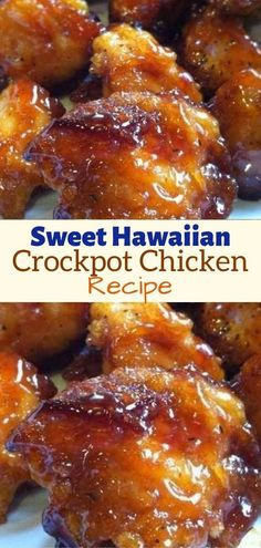 Mar 2020 - Sweet Hawaiian Crockpot Chicken Recipe – Skinny Recipes . Sweet Hawaiian Crockpot Chicken Recipe, Best Chicken Recipes, Ww Recipes, Skinny Recipes, Slow Cooker Recipes, Cooking Recipes, Recipies, Best Crockpot Chicken Recipe Ever, Slow Cooker Chicken Pineapple