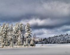 Cold day in Michigan. Deer Lake, Ishpeming